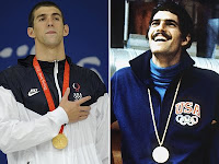 United States Olympic Swimming Greats: Michael Phelps and Mark Spitz