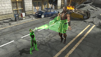 Mortal Kombat vs. DC Universe Screenshots - Green Lantern vs. Shang Tsung