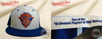 Mitchell & Ness NBA Hall of Fame Collection - Patrick Ewing New York Knicks Player Fitted Hat (Front and Inside)