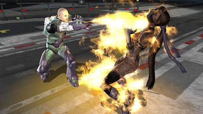 Mortal Kombat vs. DC Universe Screenshot - Lex Luthor vs. Katana
