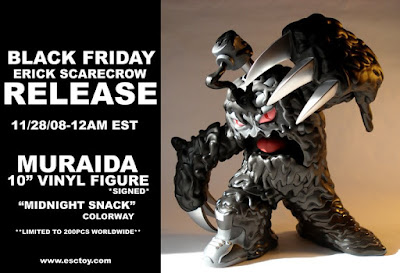 Muraida 10 Inch Vinyl Figure Midnight Snack Colorway by Erick Scarecrow