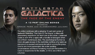 Battlestar Galactica: The Face of the Enemy featuring Alessandro Juliani as Lt Felix Gaeta and Grace Park as Cylon Number 8