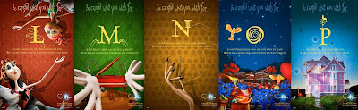 Coraline Alphabet Promo Movie Posters - L, M, N, O, P