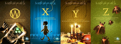 Coraline Alphabet Promo Movie Posters - W, X, Y & Z