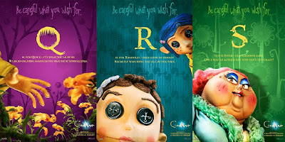 Coraline Alphabet Promo Movie Posters - Q, R, S