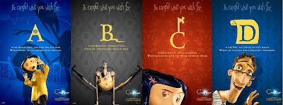 Coraline Alphabet Promo Movie Posters - A, B, C, D
