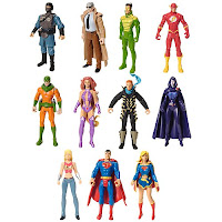 DC Universe Infinite Heroes 3 Pack Wave 1 Action Figures - Gotham City S.W.A.T. Team Member, Commissioner Gordon, Weather Wizard, The Flash (Wally West), Mirror Master, Starfire, Captain Boomerang (Owen Mercer), Raven, Wonder Girl (Cassie Sandsmark), Superman, Supergirl (Kara Zor-El)
