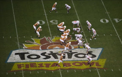 The Texas Longhorns vs. The Ohio State Buckeyes in the 2009 Tostitos Fiesta Bowl