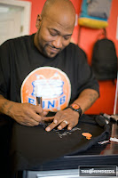 Bun B Signing Autographs at The Hundreds x Bun B T-Shirt Release Party at Premium Goods in Houston, Texas
