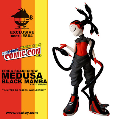 ESC Toy – Medusa New York Comic Con Black Mamba Colorway Vinyl Figure by Erick Scarecrow