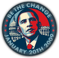 Barack Obama 2009 Presidential Inauguration Be The Change Button by OBEY Giant's Shepard Fairey