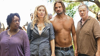 Lost - L. Scott Caldwell as Rose, Elizabeth Mitchell as Juliet, Josh Holloway as Sawyer and Sam Anderson as Bernard