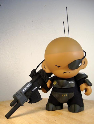 Corporal E.E. Lensman Hand Painted Custom Munny by Huck Gee