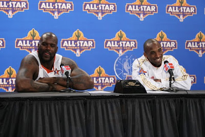 2009 NBA All Star Game - Shaquille O'Neal and Kobe Bryant Speaking to the Media after Winning the 2009 NBA All Star Game MVP Award