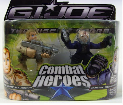 G.I. Joe: Rise of Cobra Combat Heroes Action Figures - Duke and Cobra Commander in Package