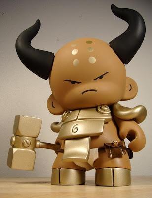 Minosu Ushi-Oni Custom Munny by Huck Gee