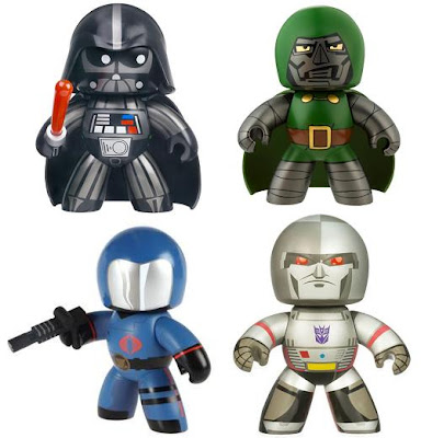 Hasbro's Mighty Muggs Villains - Star Wars' Darth Vader, Marvel's Dr. Doom, G.I. Joe's Cobra Commander & Transformers' Megatron