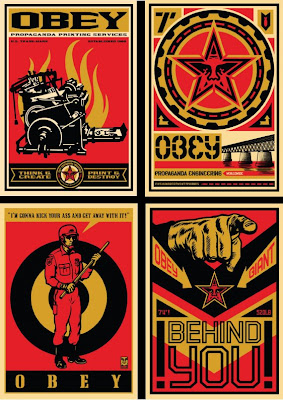 OBEY Giant 20 Year Retro Series Four Print Set by Shepard Fairey