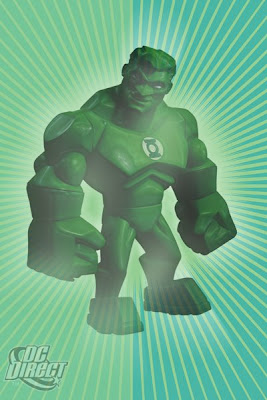 DC Direct Uni-Formz Vinyl Figures - Power Glow Green Lanter Colorway