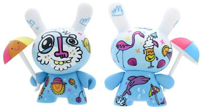 Kidrobot - Rainy Day 3 Inch Dunny by Jon Burgerman Front & Back