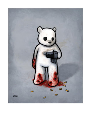 Bear With A Gun Hand (BAD IDEA) Giclee&#8217; Print by Luke Chueh