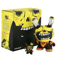 Kidrobot - Mictlantecuhtli and Xolotl 8 Inch and 3 Inch Dunny Set and Packaging by Saner