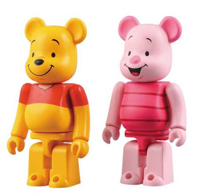 Winnie the Pooh 100% Be@rbrick 2 Pack by Medicom Toy - Pooh & Piglet