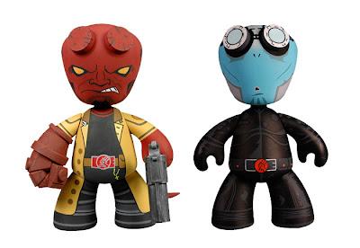 Hellboy and Abe Sapien 6 Inch Mez-Itz Designer Vinyl Figures by Mezco