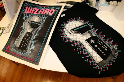 Johnny Cupcakes x The Wizard - Limited Edition Power-Mitt Poster and T-Shirt