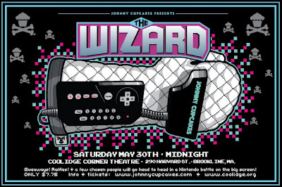 Johnny Cupcakes x The Wizard - The Wizard Screening on Saturday May 30th at the Coolidge Corner Theater in Boston Official Poster