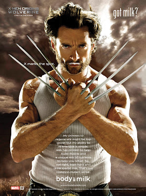 X-Men Origins: Wolverine - Wolverine Got Milk? Body by Milk Ad