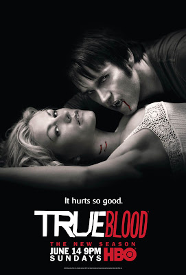 True Blood Season 2 Television Promo Poster - Anna Paquin as Sookie Stackhouse and Stephen Moyer as Bill Compton