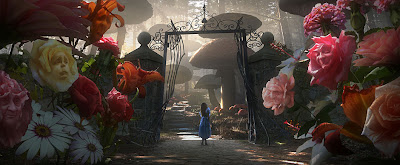 Tim Burton's Alice In Wonderland First Look - Alice and the Chatty Flowers