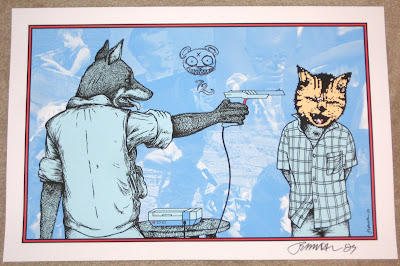 Jermaine Rogers - Little Animals Grow… (Teach Your Children) Autographed and Doodled Screen Print