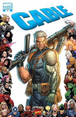 Cable Issue Number 17 - Marvel Comics 70th Anniversary Variant Cover Artwork featuring Cable by Rob Liefeld
