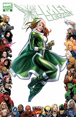 X-Men Legacy Issue Number 227 - Marvel Comics 70th Anniversary Variant Cover Artwork featuring Rogue by Greg Land