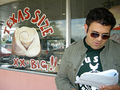 Man v. Food - Adam Richmond in San Antonio, Texas outside of Lulu's Cafe