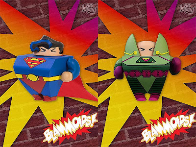 Blammoids! Series 2 by DC Direct - Superman and Lex Luthor Vinyl Figures