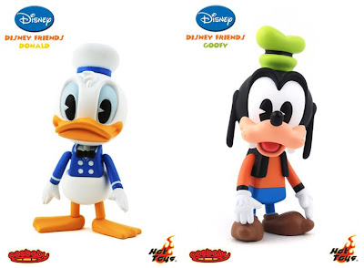 Disney Friends 3 Inch Cosbaby Viny Figures by Hot Toys - Donald Duck and Goofy