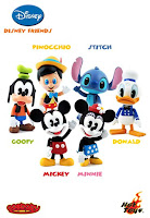 Hot Toys - Disney Friends 3 Inch Cosbaby Viny Figures