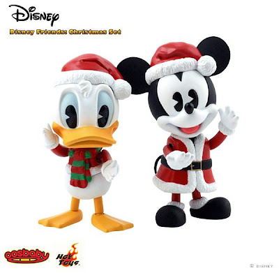 Disney Friends Christmas CosBaby 2-Pack - Donald Duck and Mickey Mouse 3 Inch Holiday CosBabies