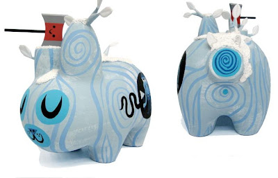 Hand Painted Custom Ice Wood Labbit by Amanda Visell