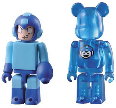 Mega Man 100% Kubrick & Be@rbrick Vinyl Figure Sets - Mega Man Kubrick and 1 UP Be@rbrick