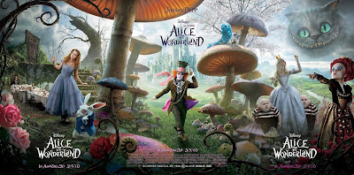 Alice In Wonderland Theatrical One Sheet Movie Poster Set