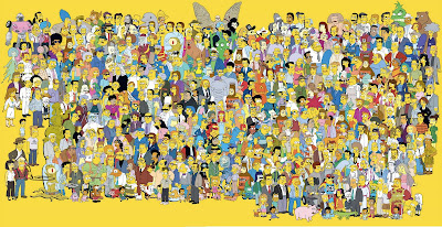 The Simpsons 20th Anniversary Poster
