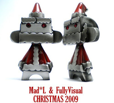 Fully Visual x MAD Mini Metal Mad'l Santa 09 - Red Colorway