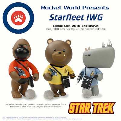 SDCC 2010 Exclusive Starfleet IWG Figures by Rocket World