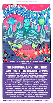 2010 Free Press Summerfest Line-Up Poster