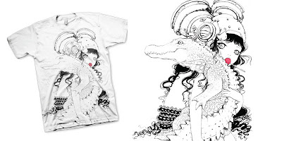 LTD Tee - Croc O&#8217; Hug T-Shirt &amp; Art Print by Camilla D&#8217;Errico
