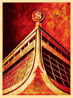 Obey Giant - Glass Houses Canvas Screen Print by Shepard Fairey